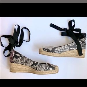 Tory Burch Heather Ankle Wrap Espadrille size 5